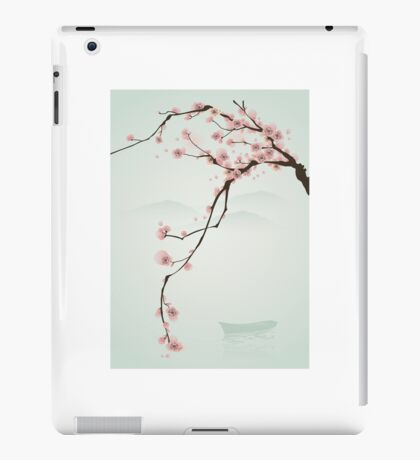 Whimsical Pink Cherry Blossom Tree iPad Case/Skin
