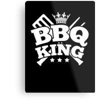 BBQ KING Metal Print