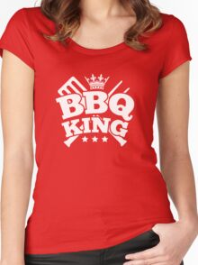BBQ KING Women's Fitted Scoop T-Shirt