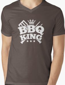 BBQ KING Mens V-Neck T-Shirt