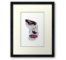 Simplistic face  Framed Print