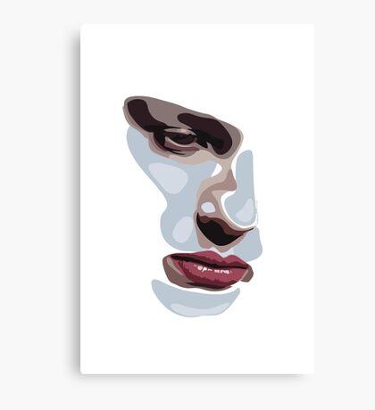 Simplistic face  Canvas Print
