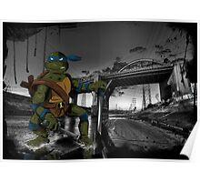 MrWetpaint x Turtles - Leo Poster