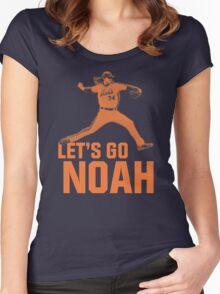 LET'S GO NOAH Women's Fitted Scoop T-Shirt