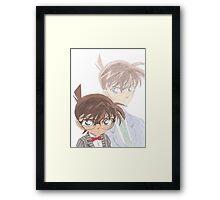 Detective Conan and Shinichi Kudo Framed Print