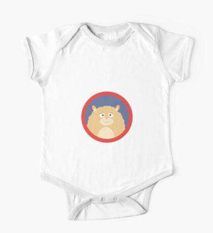 Cute fluffy Hamster with red circle One Piece - Short Sleeve