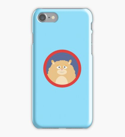 Cute fluffy Hamster with red circle iPhone Case/Skin