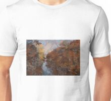 Herbst am Fluss Unisex T-Shirt