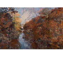 Herbst am Fluss Photographic Print