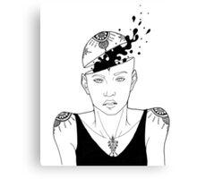 Ink Head Canvas Print