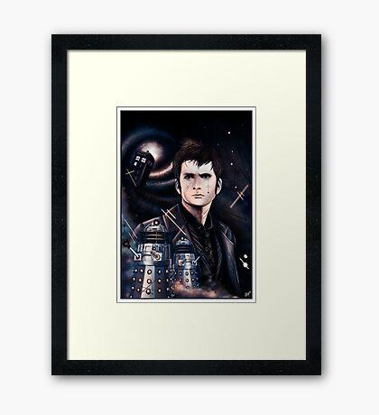 David Tennant as Doctor Who Framed Print
