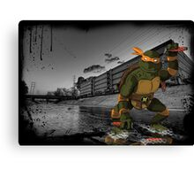 MrWetpaint x Turtles - Mikey Canvas Print