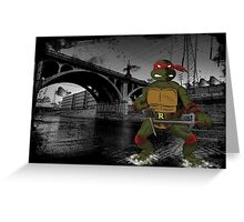 MrWetpaint x Turtles - Raph Greeting Card