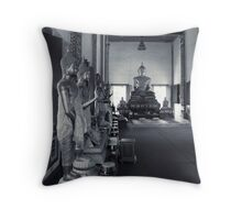 Inside Thai Temple Throw Pillow