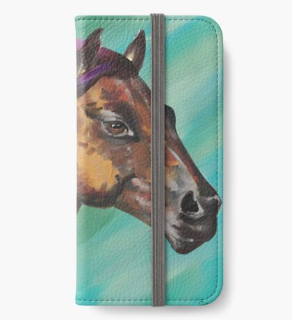 Galloping Horse with a Rainbow Mane iPhone Wallet/Case/Skin