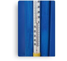 thermometer in degrees Celsius  Canvas Print