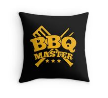 BBQ MASTER Throw Pillow