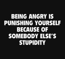 Being Angry Is Punishing Yourself Because Of Somebody Else's Stupidity by DesignFactoryD
