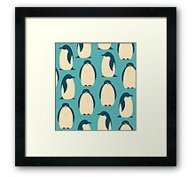 Happy penguins Framed Print