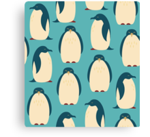 Happy penguins Canvas Print
