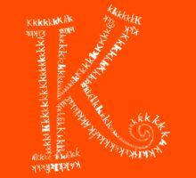 Typographic K letter Kids Tee