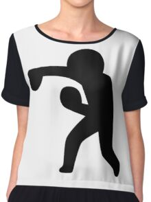 Boxing Stickman Chiffon Top