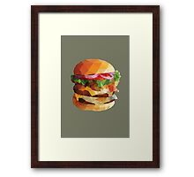 Gourmet Burger Polygon Art Framed Print