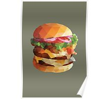 Gourmet Burger Polygon Art Poster