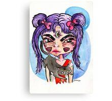 grumpy sailor moon Canvas Print