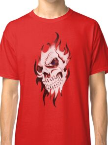 Halloween, Dantes Inferno, spooky pattern, skeleton, skulls 3 red Classic T-Shirt