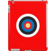 Bulls Eye, Target, Roundel, Archery, on Red iPad Case/Skin