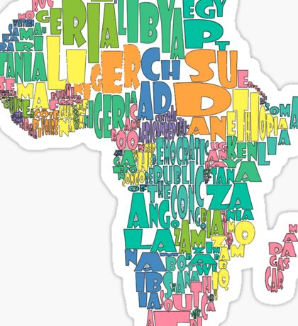African Country Map Cloud Sticker