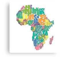African Country Map Cloud Canvas Print
