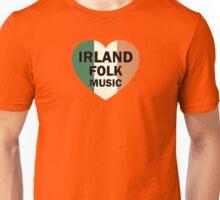 Irland folk music heart Unisex T-Shirt