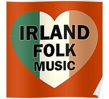 Irland folk music heart Poster