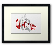 Canada Typographic Map Flag Framed Print