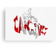 Canada Typographic Map Flag Canvas Print