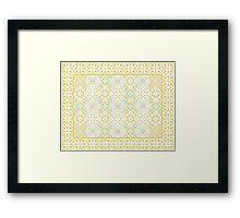 floor tile golden mashup Framed Print