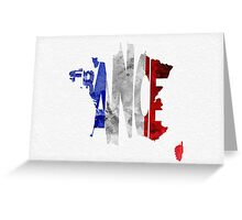 France Typographic Map Flag Greeting Card