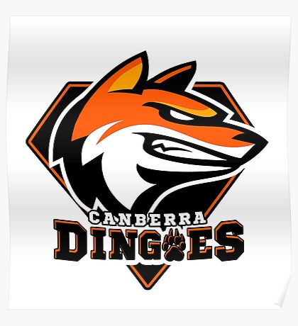 Canberra Dingoes Ice Hockey Team Poster