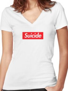 Suicide (SUICIDEBOYS Supreme) Women's Fitted V-Neck T-Shirt