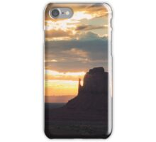 Sunrise in Monument Valley iPhone Case/Skin