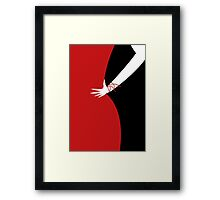 The Red Lady - Back Framed Print