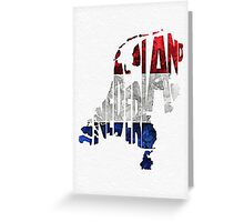 The Netherlands Typographic Map Flag Greeting Card