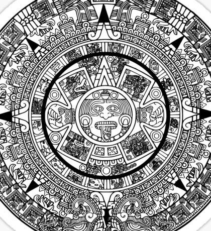 Aztec, Sun, Calender, Cosmic, Cycles, 15th century, Sun Stone, sculpture,  Sticker