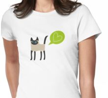 Purrfect Love! Womens Fitted T-Shirt