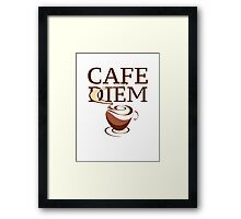 Cafe Diem Framed Print