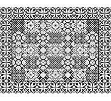 Floor tile black Photographic Print