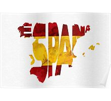 Spain Typographic Map Flag Poster