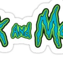 rick and morty logo Sticker